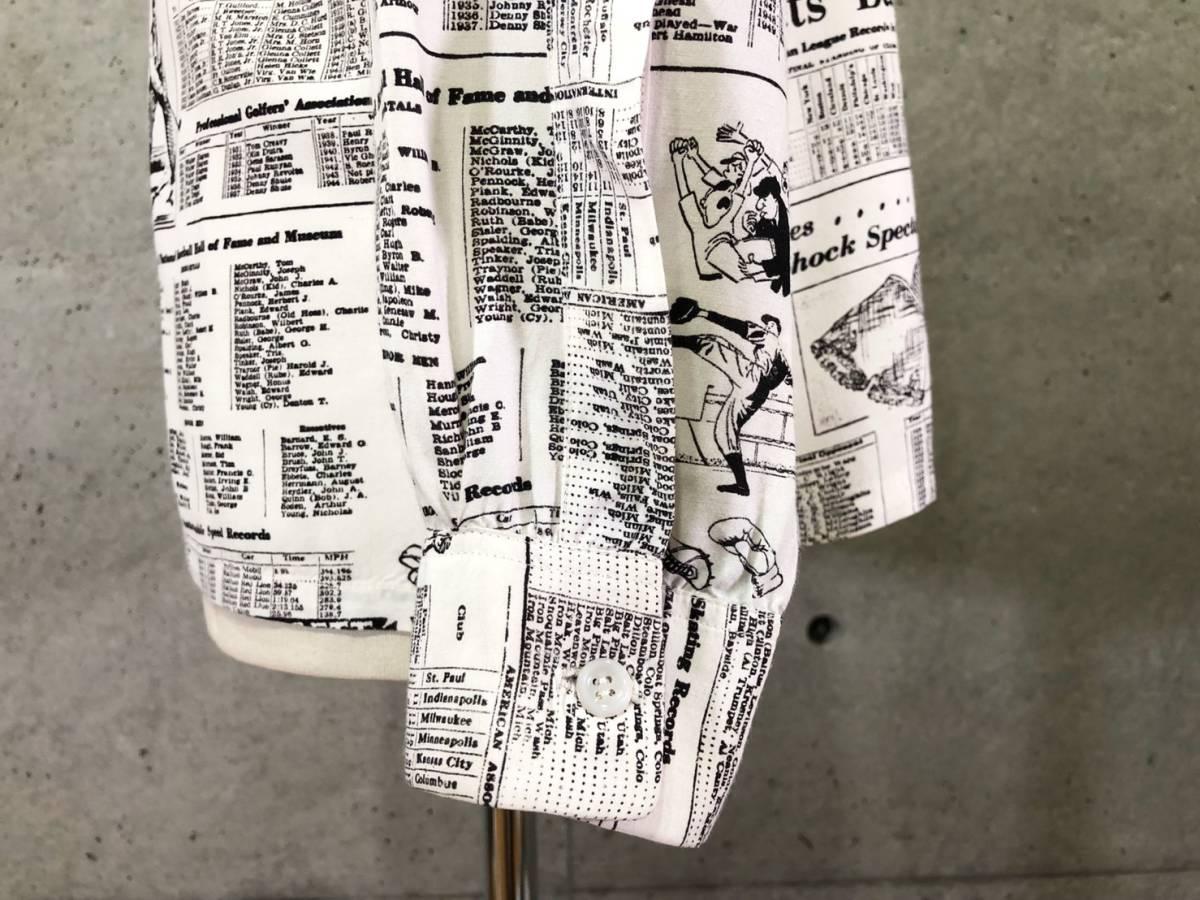 希少 《 Special !! / Newspaper / 1940年代製 》40s 50s 美品【 Enro ビンテージ レーヨン ニュースペーパー シャツ マイフリーダム6 】_画像8