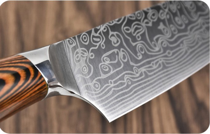 極上珍品 手作り鍛造 ダマスカス鋼 出刃包丁 パフォーマンス抜群る鋭い 和包丁 料理刺身包丁 刃物 調理器具 三徳包丁 万能包丁 3枚 _画像5