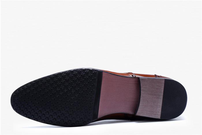 貴重品 高級本革 牛革 ハイトップシューズ ハンドメイド ブーツ マーティンブーツ 紳士 ビジネスシューズ メンズ 革靴 実物写真_画像8