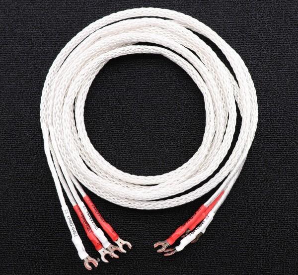 送料無料 KIMBER KABLE 8AG 純銀線 スピーカーケーブル 2.5m ペア キンバーケーブル Yラグ x Yラグ