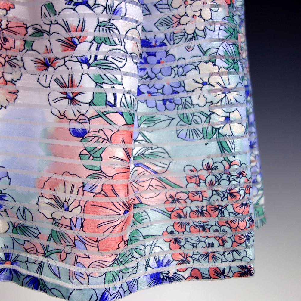 新品トミーヒルフィガー10/15号 青 水色 ピンク パステルトーン ノースリーブ ガーリー Aライン リボン ワンピースパーティドレス29J287_画像6