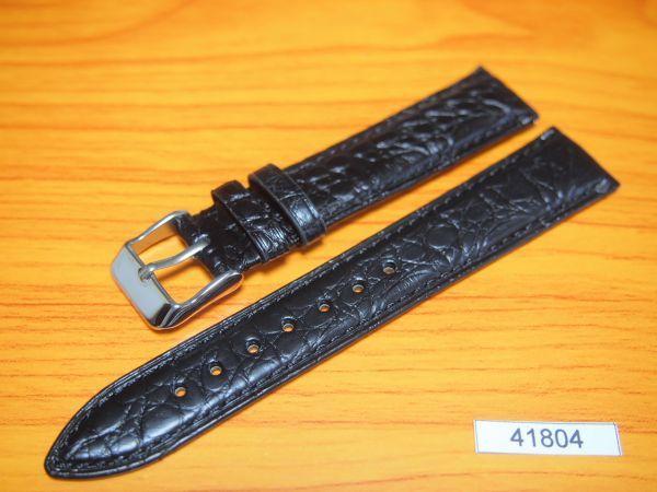 1円~|41804|ラグ幅18mm|米国産アリゲーター|クロコダイル|ワニ革|バネ棒おまけ|時計ベルト|売切り|処分(0)
