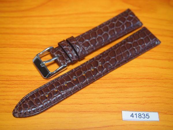 1円~ 41835 ラグ幅18mm 米国産アリゲーター クロコダイル ワニ革 バネ棒おまけ 時計ベルト 売切り 処分(0)