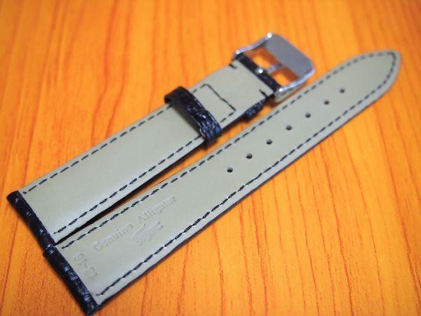 1円~ 41835 ラグ幅18mm 米国産アリゲーター クロコダイル ワニ革 バネ棒おまけ 時計ベルト 売切り 処分(0)_画像3