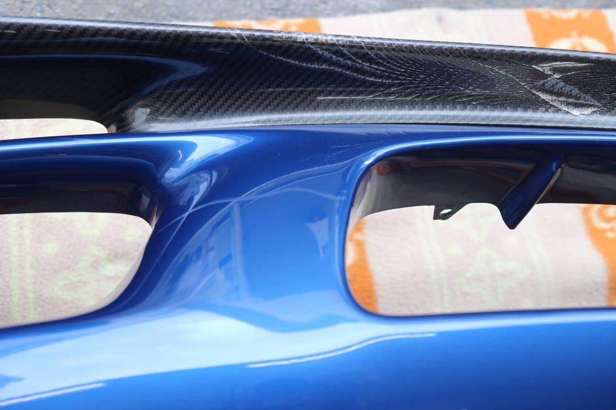 大阪発 FD3S 5型 マツダ RX-7 後期型 20p イノセントブルーマイカー 純正フロントバンパー カーボンリップスポイラー付き 個人宅発送不可_画像6