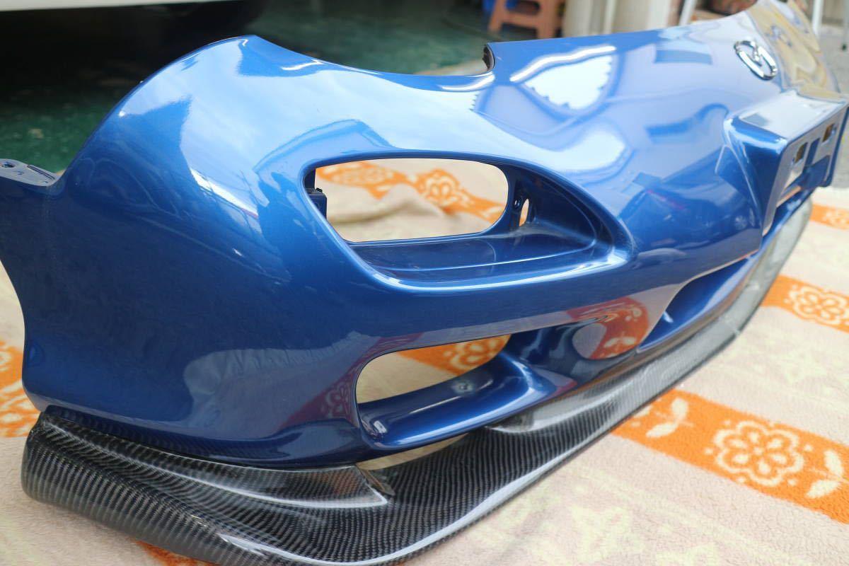 大阪発 FD3S 5型 マツダ RX-7 後期型 20p イノセントブルーマイカー 純正フロントバンパー カーボンリップスポイラー付き 個人宅発送不可_画像9