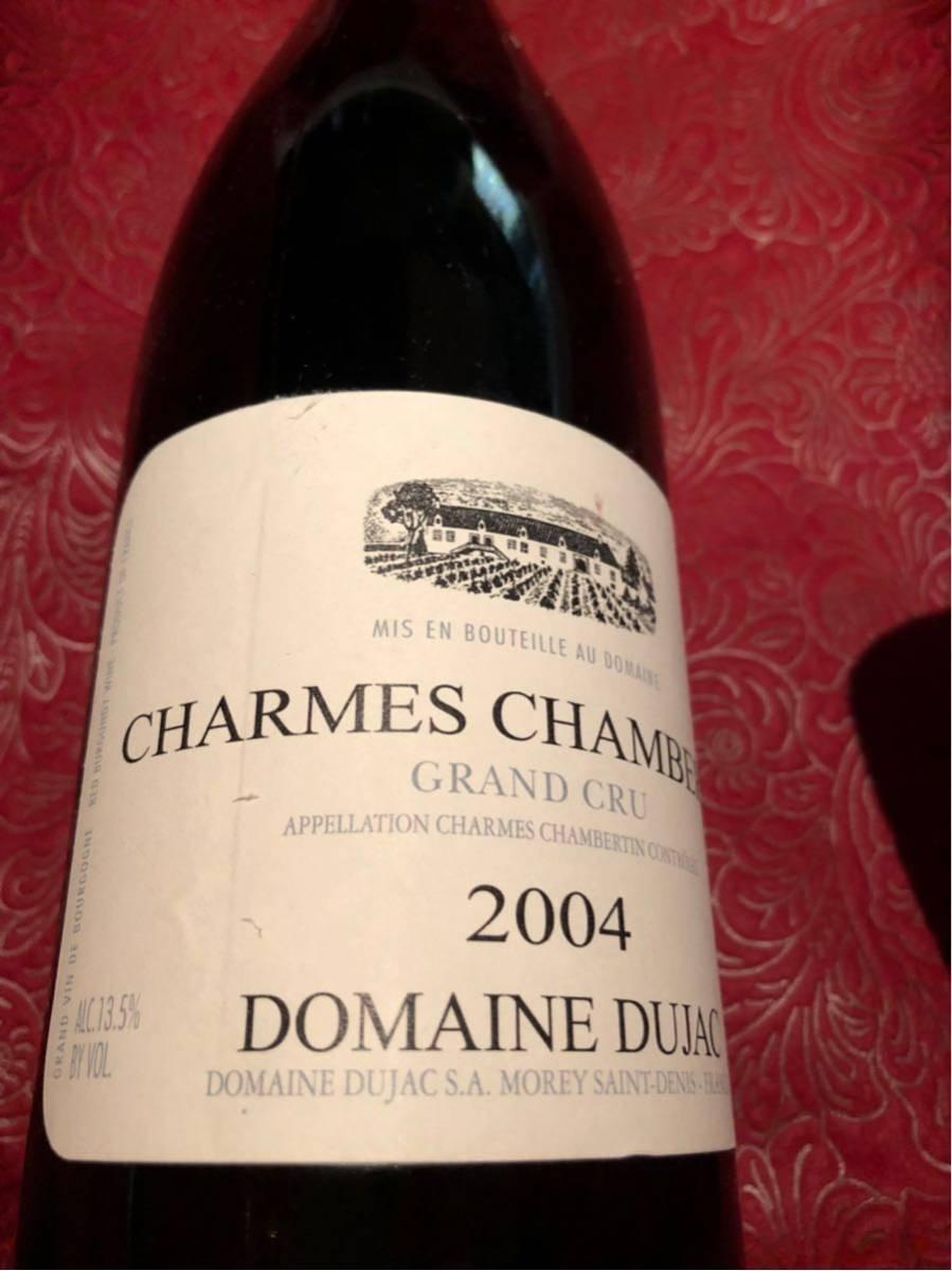 ドメーヌ ドュジャック dujac 2004 シャルムシャンベルタン グラン クリュ 750ml 赤ワイン_画像2