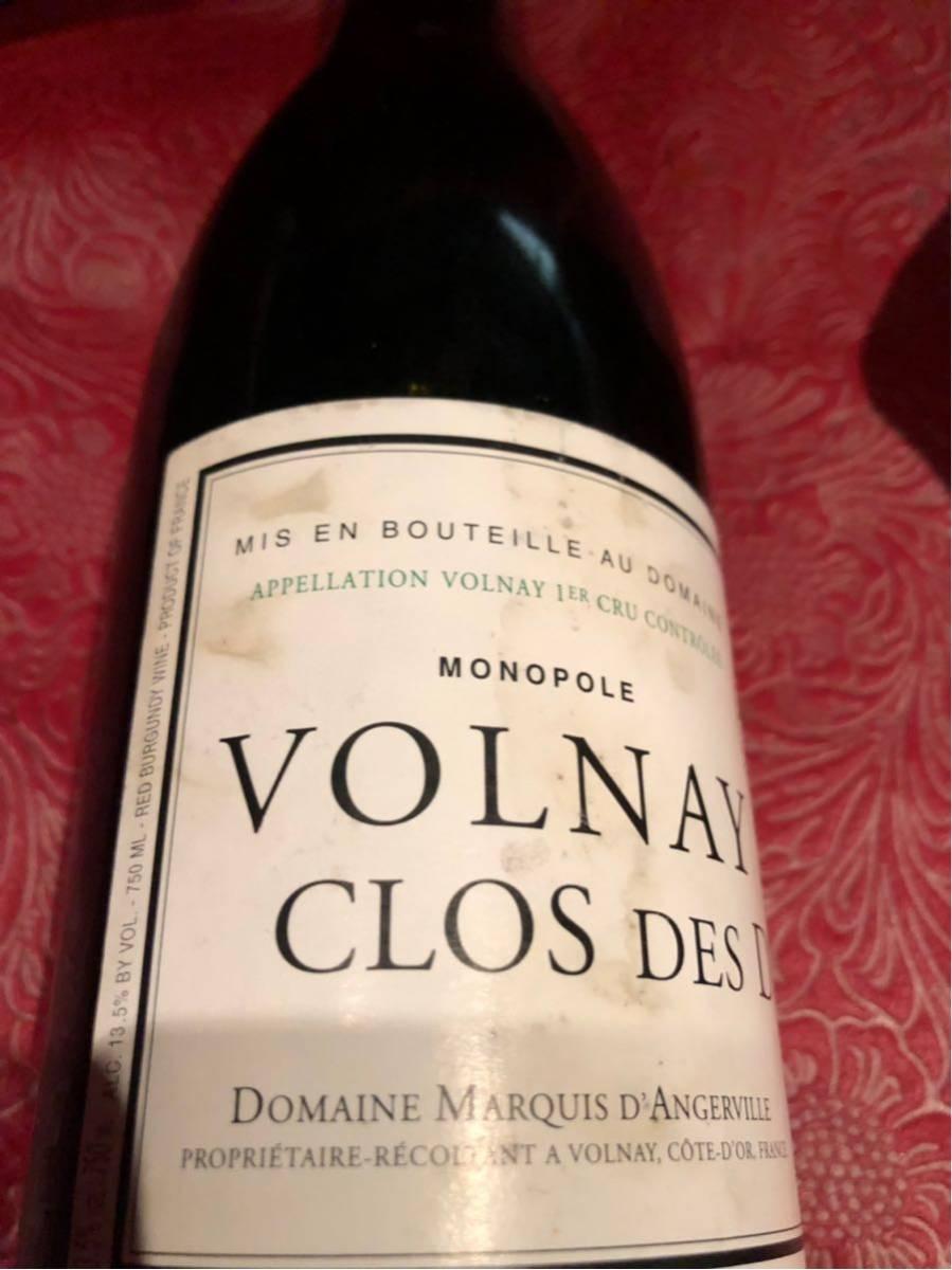 マルキ タンジェルヴィーユ 2004 ヴォルネイ クロ デ デュック 750ml 赤ワイン_画像3