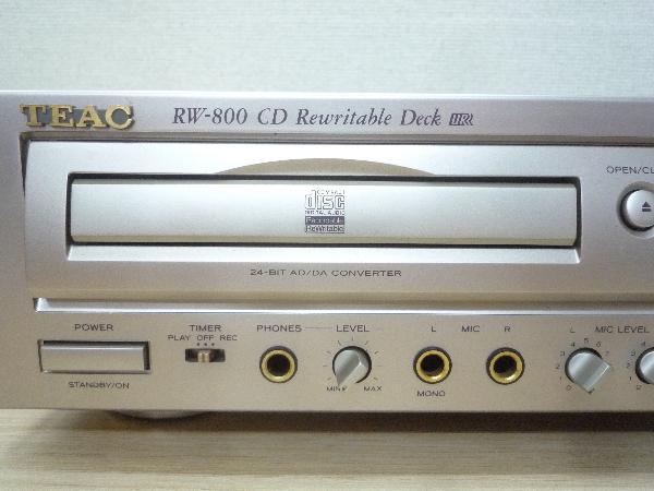 ティアック TEAC☆RW-800 CDレコーダー リモコン付き☆CD再生可 ほか未チェック ジャンク品_画像2
