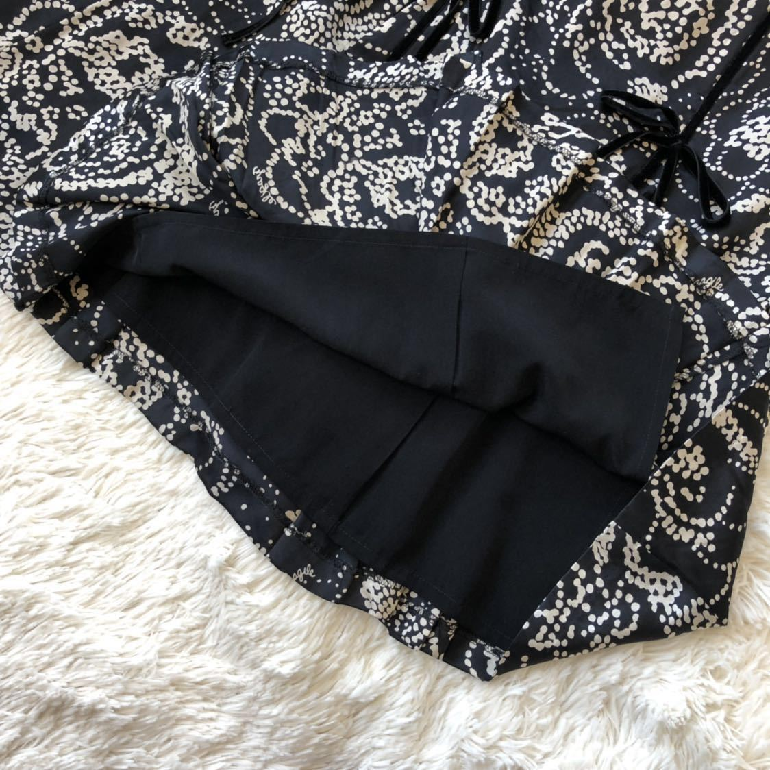 *FRAGILE* 大人のワードローブにシルク素材で*スカートはスカートらしく基本に忠実*size 36*フラジール_画像5