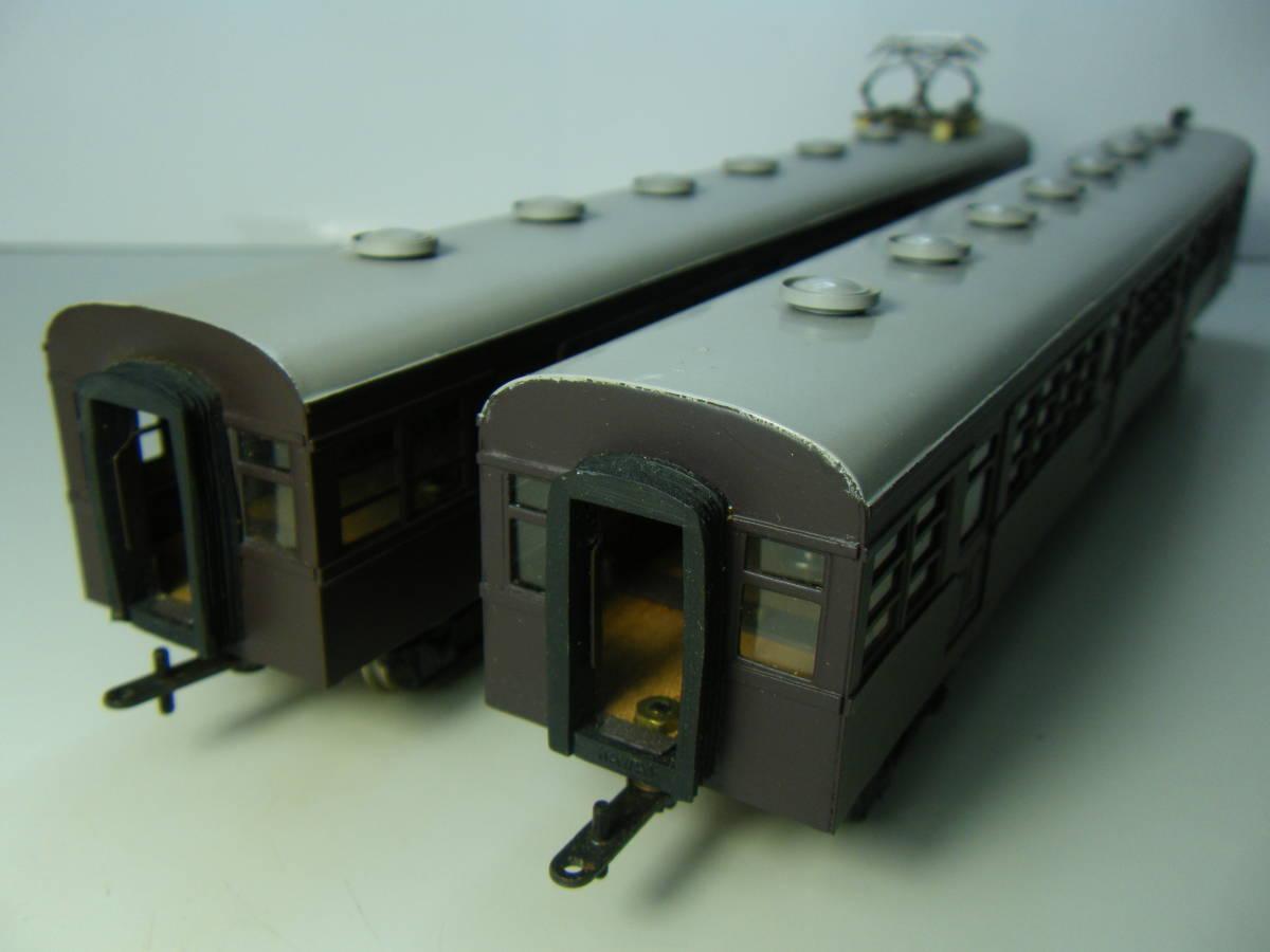 旧型国電73系 2両編成 金属&木製 アンティーク品 メーカー不明 _画像2