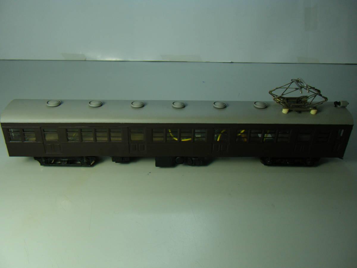 旧型国電73系 2両編成 金属&木製 アンティーク品 メーカー不明 _画像4
