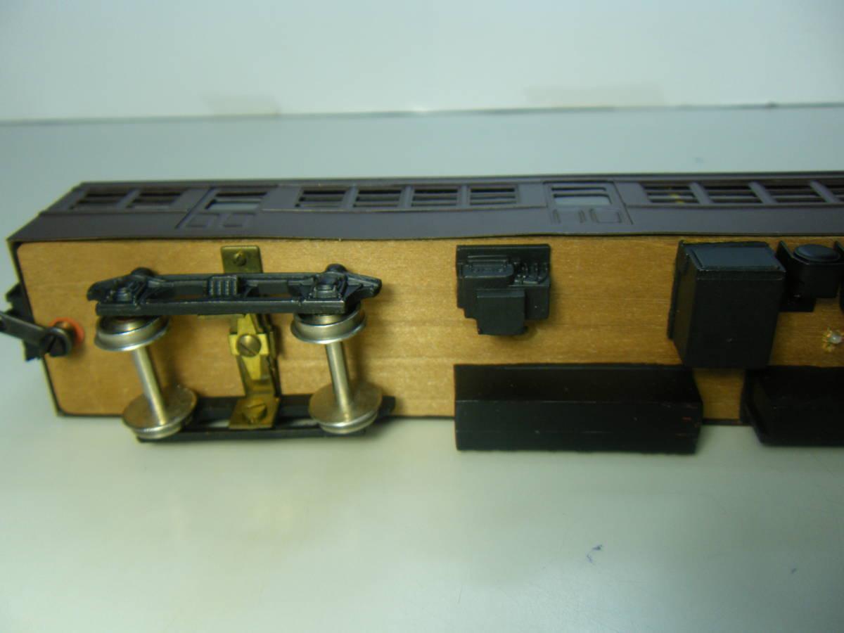 旧型国電73系 2両編成 金属&木製 アンティーク品 メーカー不明 _画像7
