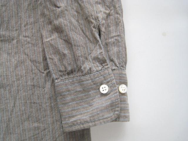 美品!! 快晴堂 謹製*ワイドシルエット ストライプ柄長袖シャツ 2 実寸M_画像3