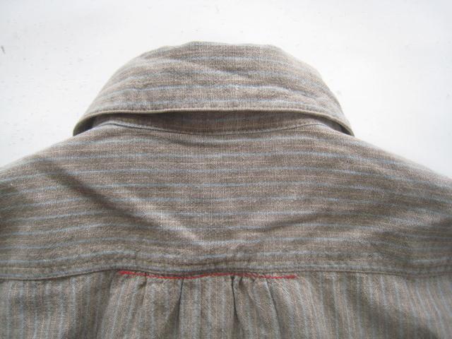 美品!! 快晴堂 謹製*ワイドシルエット ストライプ柄長袖シャツ 2 実寸M_画像6