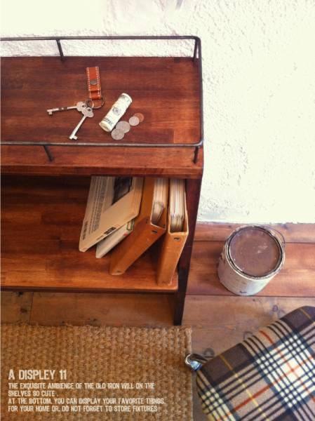 数量限定 CBS-80 シェルフ 棚 アイアン ディスプレイ キッチン カップボード 家具 収納 本棚 食器棚 花台 フラワースタンド_画像2