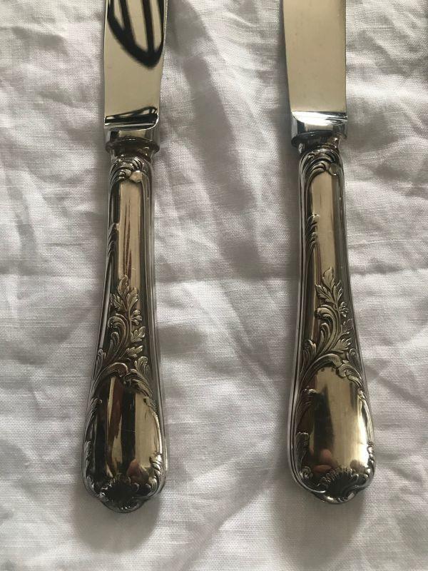 クリストフル(CHRISTOFLE)のマルリー ナイフ 24.5cm シルバープレート 5本_画像4