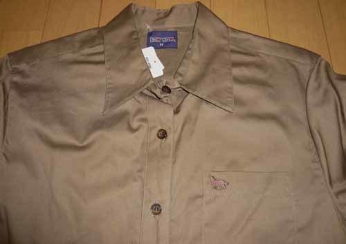 長袖☆シャツ・ブラウス☆綿100% ☆シルクブラウンで上品【新品/タグ付】M_画像3