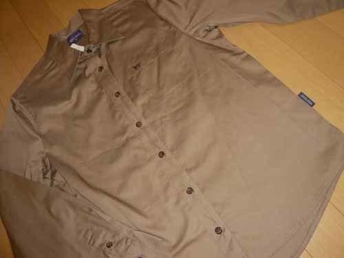 長袖☆シャツ・ブラウス☆綿100% ☆シルクブラウンで上品【新品/タグ付】M_画像2