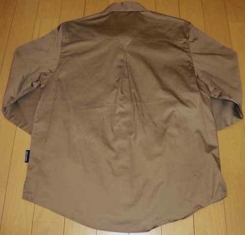 長袖☆シャツ・ブラウス☆綿100% ☆シルクブラウンで上品【新品/タグ付】M_画像5