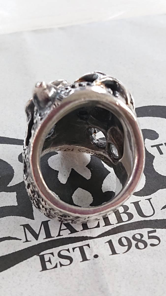 ビルウォールレザー BWL 50/50マスタースカルリング 中古品 紙ギャラ 保存袋 ゴールドサダーカスタム 約19号 インポートブランド_画像4