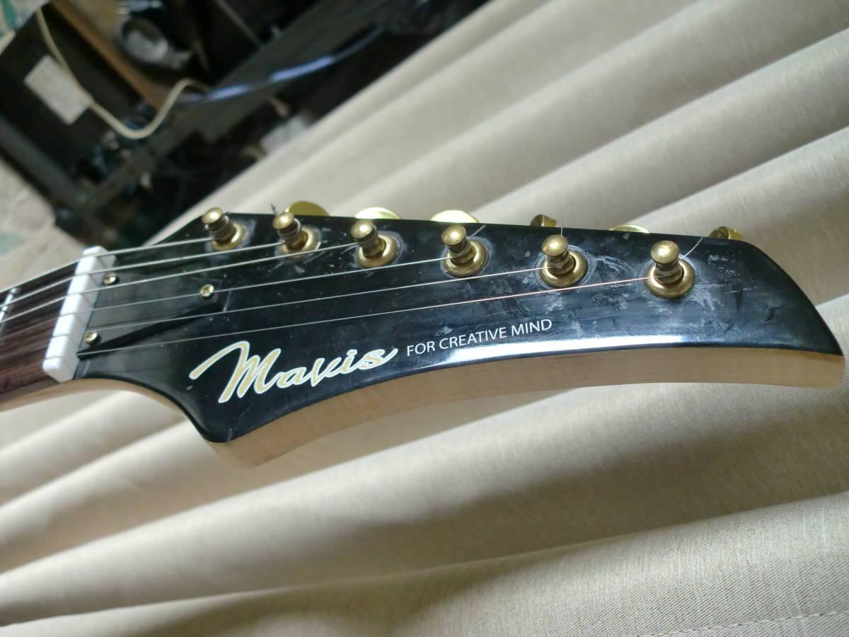 ★Mavis メイビス美品 のストラト・エレキギター 22Fロングサイズ★_画像5