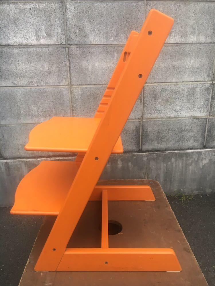 ストッケ STOKKE 子供椅子 北欧 オレンジ TRIPP TRAPP トリップトラップ_画像2