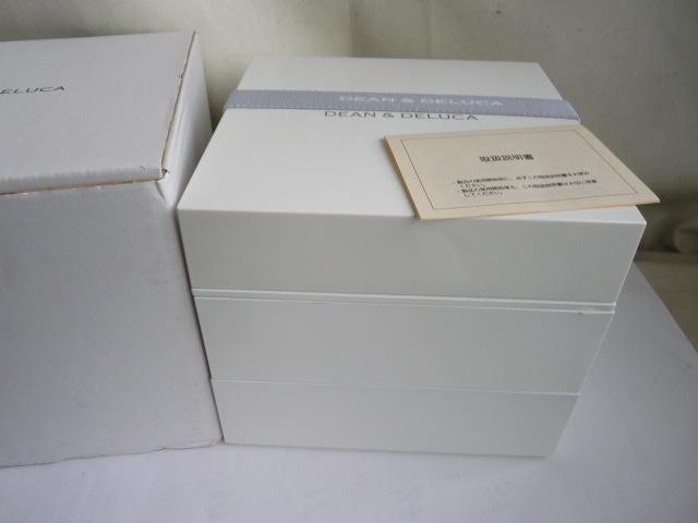未使用◆DEAN & DELUCA の三段重 大 ホワイト_画像2