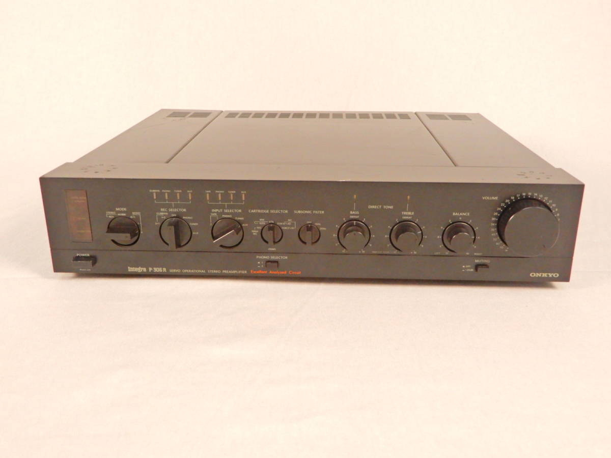 ONKYO 音響 オンキョー プリアンプ P-306R オーディオ 通電確認済_画像2