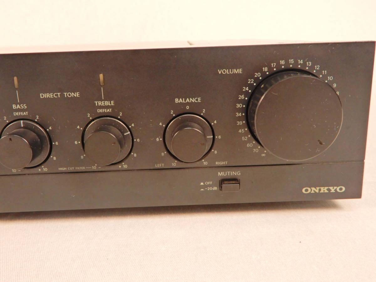 ONKYO 音響 オンキョー プリアンプ P-306R オーディオ 通電確認済_画像3