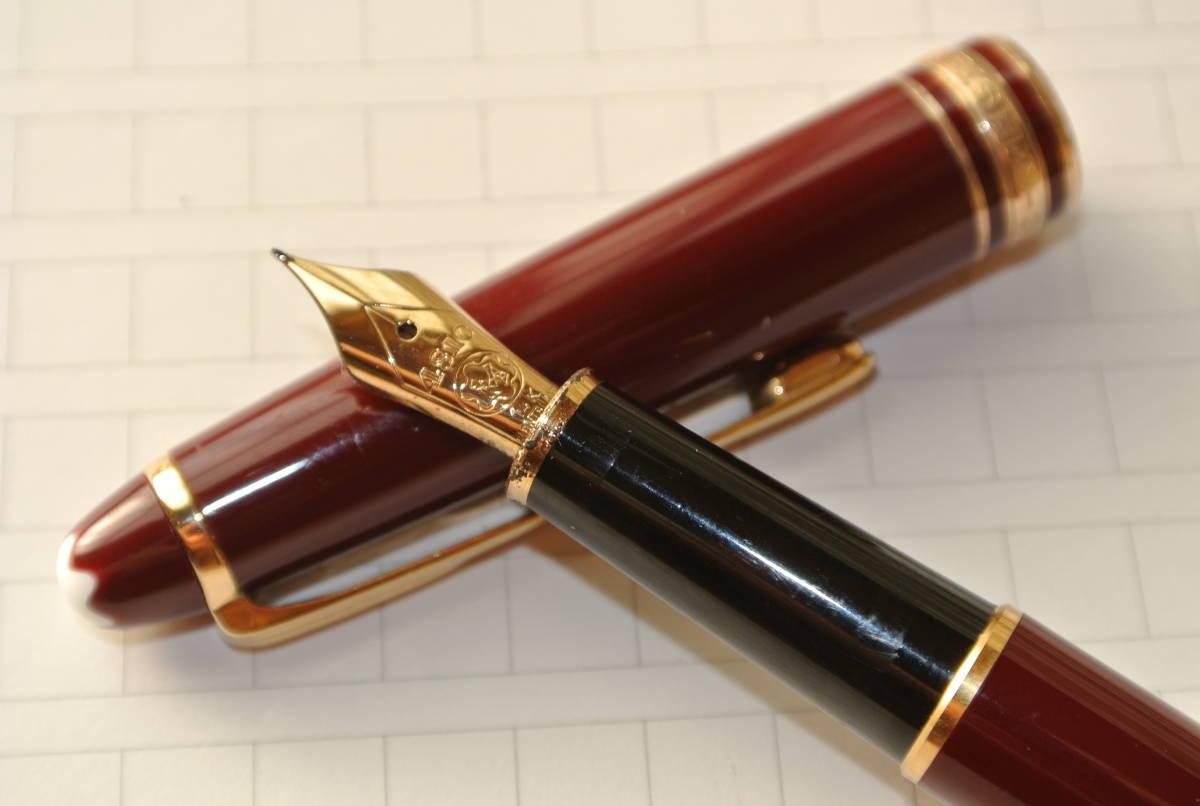 【気品のブラウン】MONTBLANC モンブラン マイスターシュテック 4810 ペン先14K 585 万年筆(インクおまけ)
