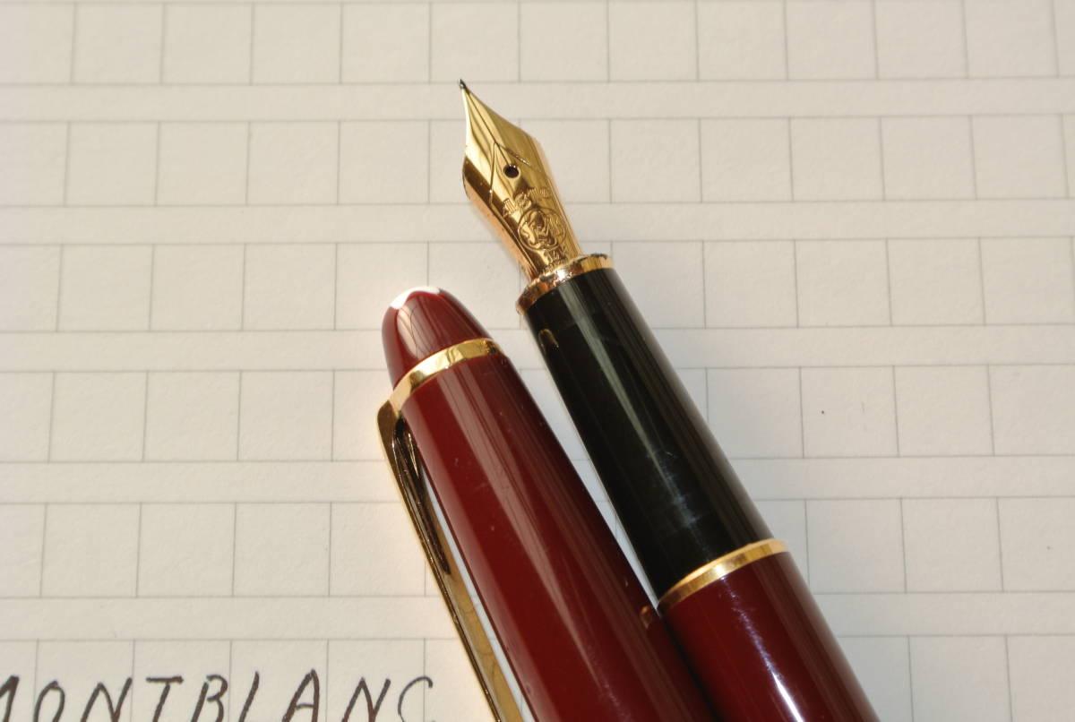 【気品のブラウン】MONTBLANC モンブラン マイスターシュテック 4810 ペン先14K 585 万年筆(インクおまけ)_画像3