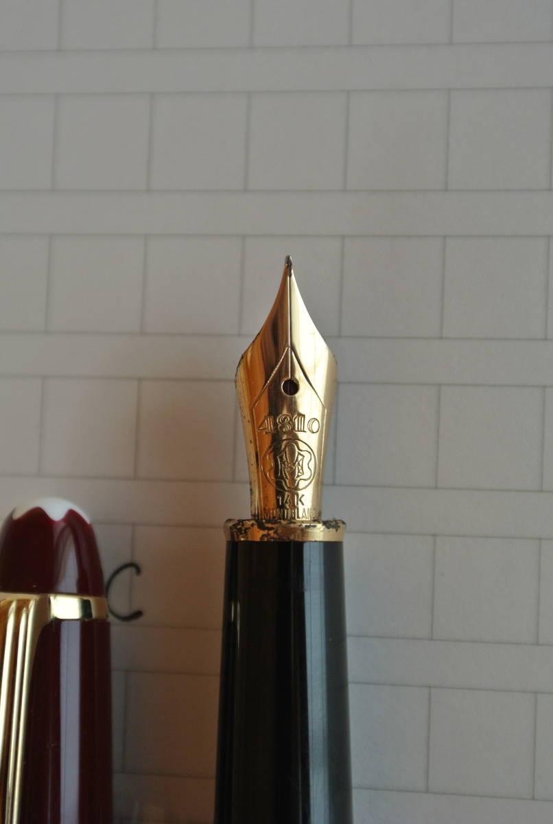 【気品のブラウン】MONTBLANC モンブラン マイスターシュテック 4810 ペン先14K 585 万年筆(インクおまけ)_画像8