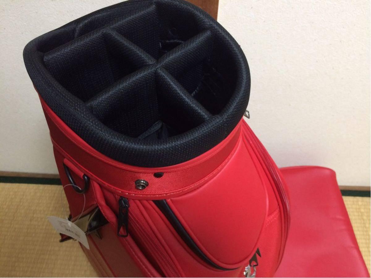 未使用保管品 Ferrari フェラーリ cobra コブラ キャディバッグ ゴルフバッグ キャディーバッグ レッド 909034-02_画像8