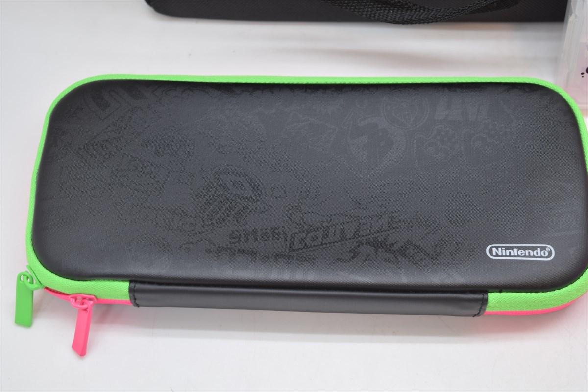 美品 任天堂 switch スイッチ用スプラトゥーン2 オールインボックス キャリングケース シリコンカバー カードポケット セット_画像2