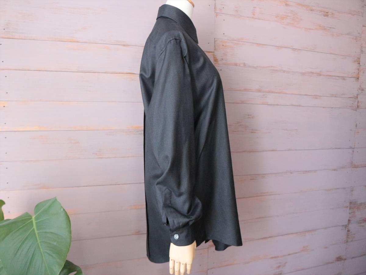 本物保証|エルメス マルジェラ期 シャツ ブラウス シルク 100% ブラック 黒 良品 HERMES_画像4