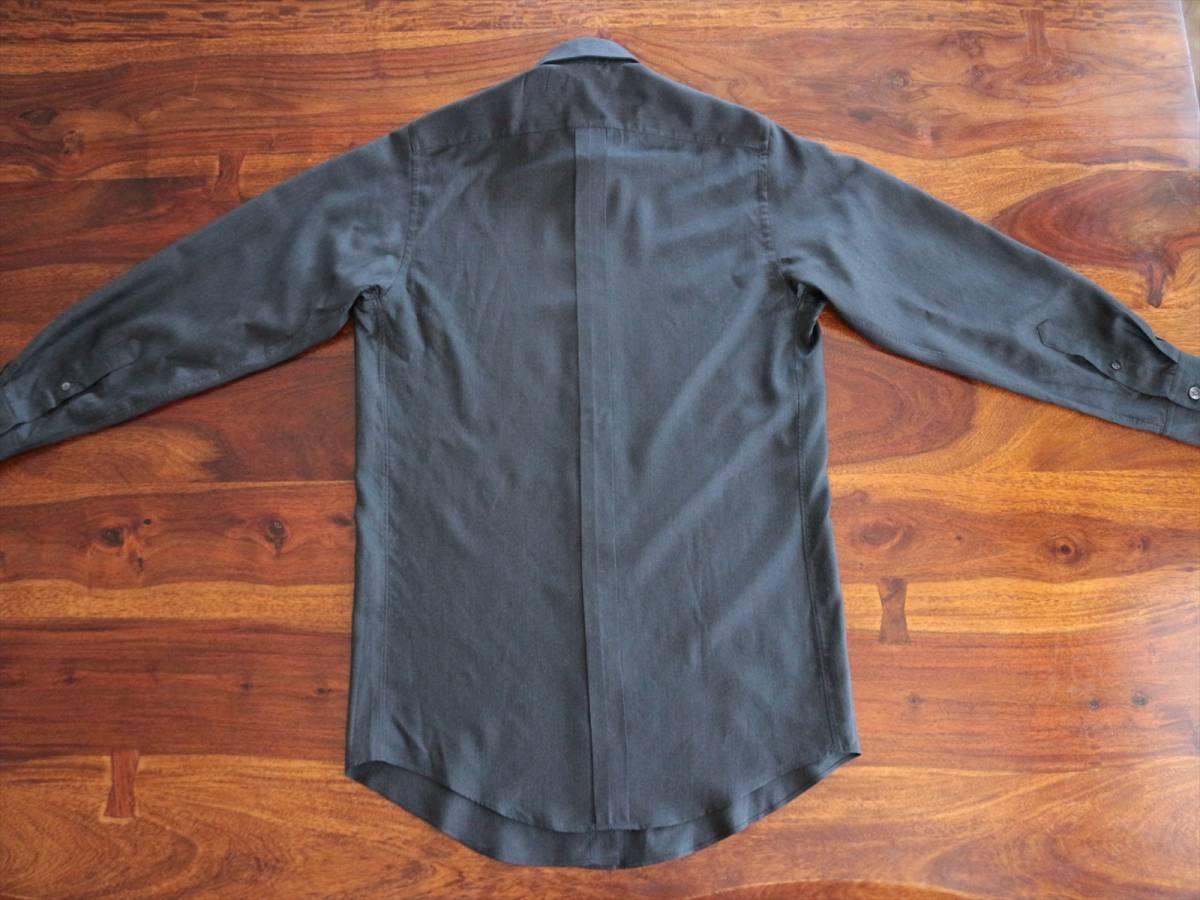 本物保証|エルメス マルジェラ期 シャツ ブラウス シルク 100% ブラック 黒 良品 HERMES_画像9