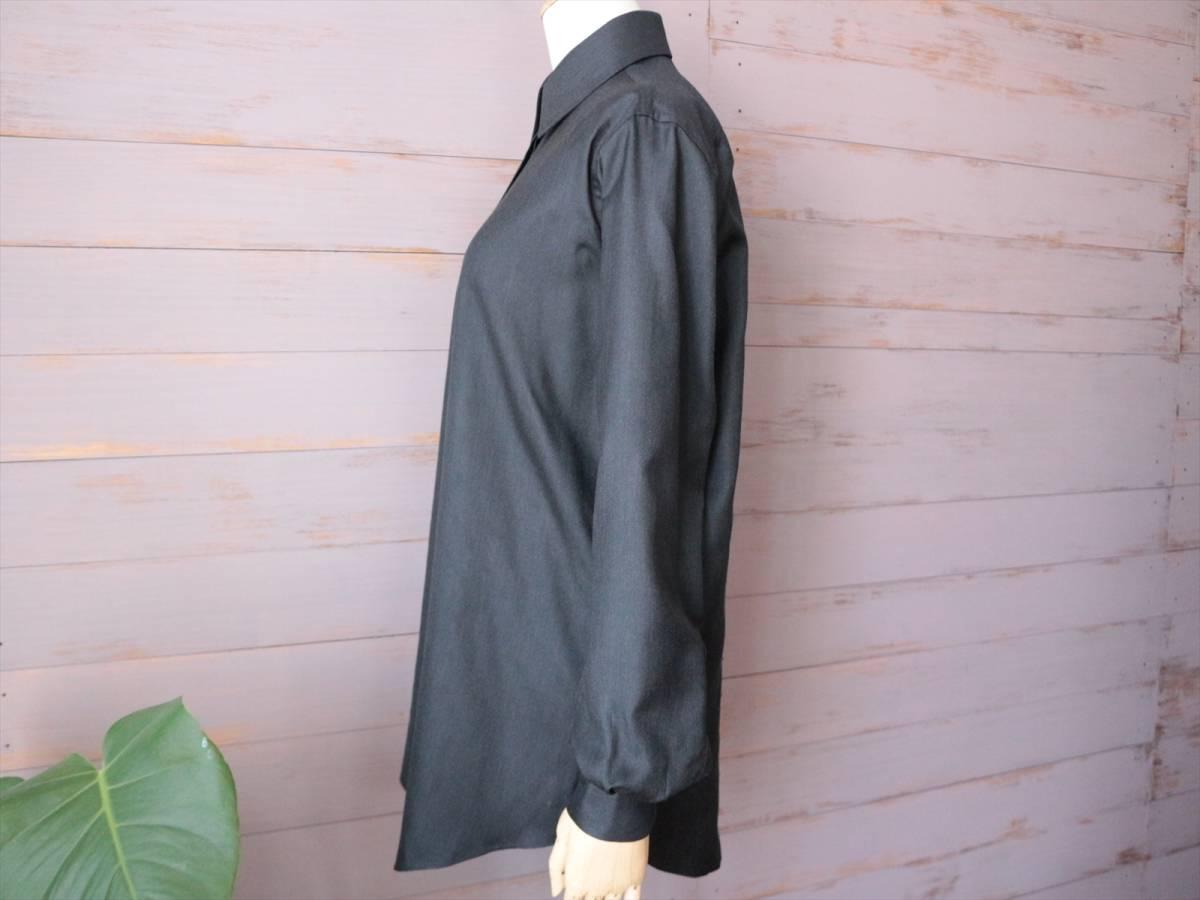 本物保証|エルメス マルジェラ期 シャツ ブラウス シルク 100% ブラック 黒 良品 HERMES_画像2