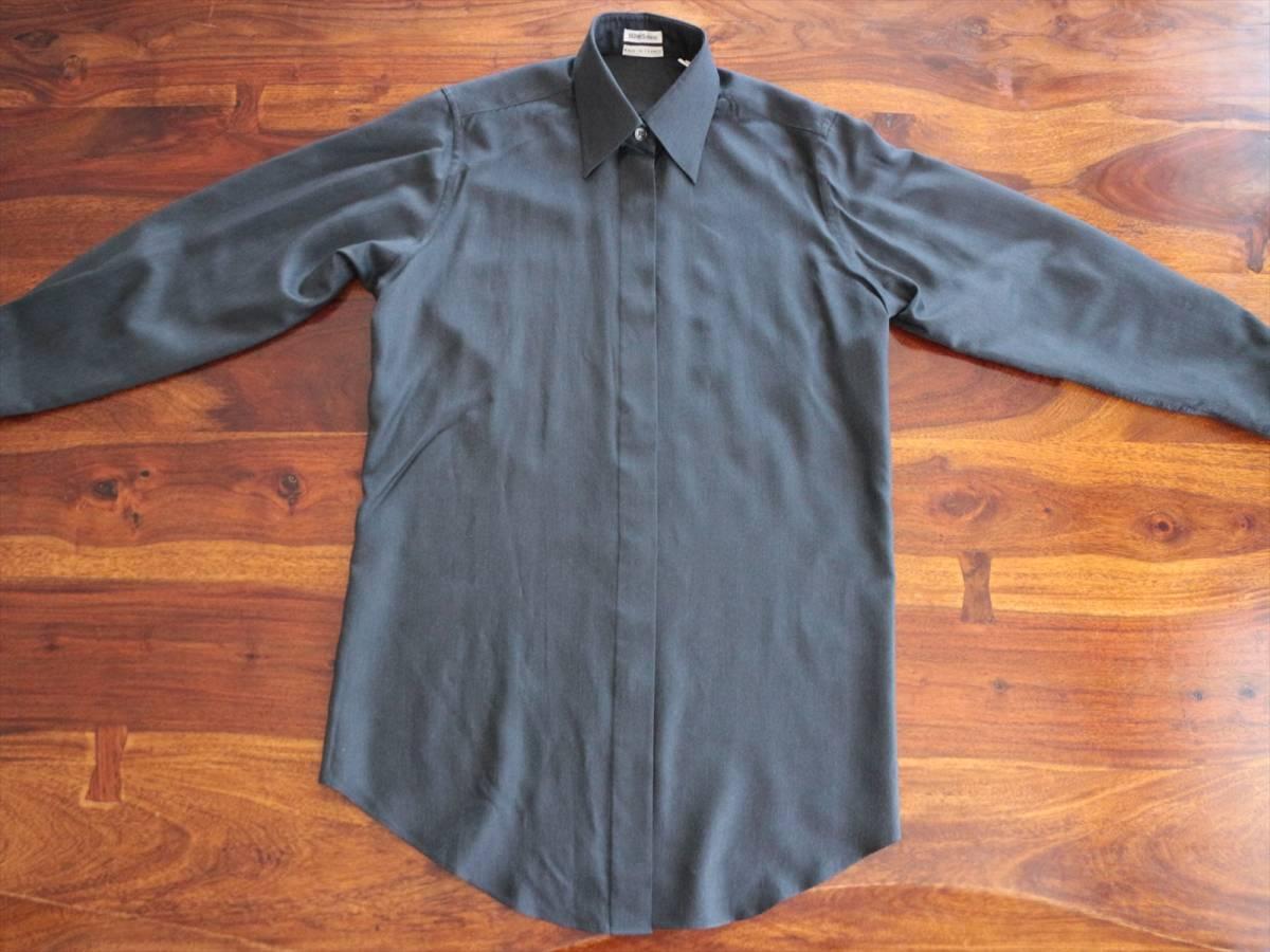 本物保証|エルメス マルジェラ期 シャツ ブラウス シルク 100% ブラック 黒 良品 HERMES_画像5
