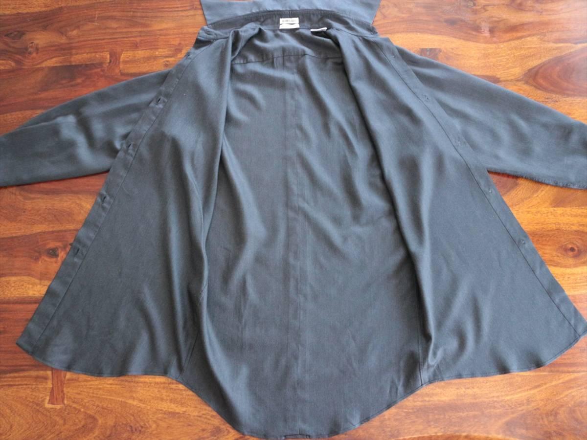 本物保証|エルメス マルジェラ期 シャツ ブラウス シルク 100% ブラック 黒 良品 HERMES_画像7
