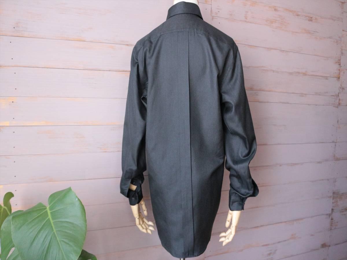 本物保証|エルメス マルジェラ期 シャツ ブラウス シルク 100% ブラック 黒 良品 HERMES_画像3