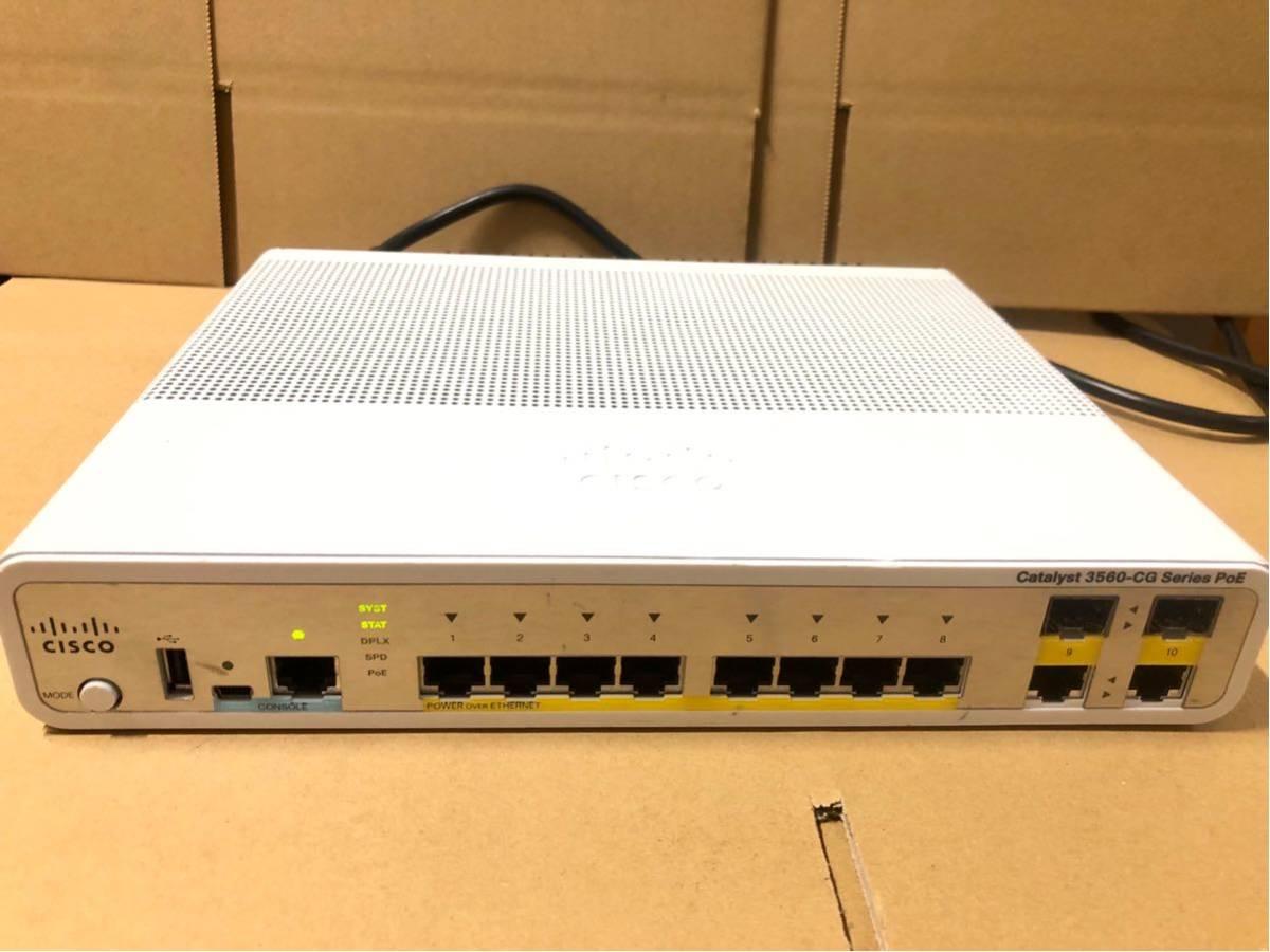 used ]Cisco Catalyst 3560-CG Series PoE WS-C3560CG-8PC-S