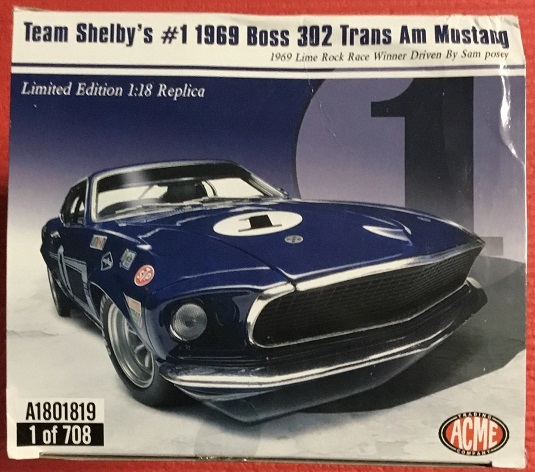 ACME 1:18 Team Shelbys #1 1969 ボス 302 トランザム ムスタング_画像3