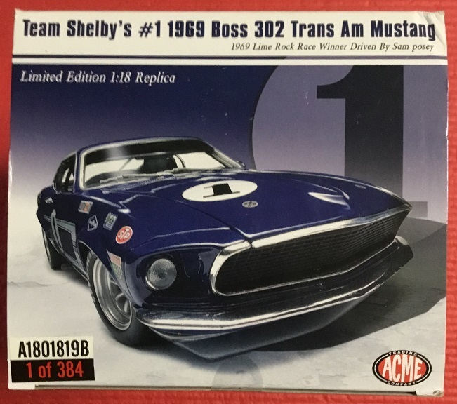 ACME 1:18 1969 Boss 302 フォード トランザム マスタング ストリートバージョン_画像2
