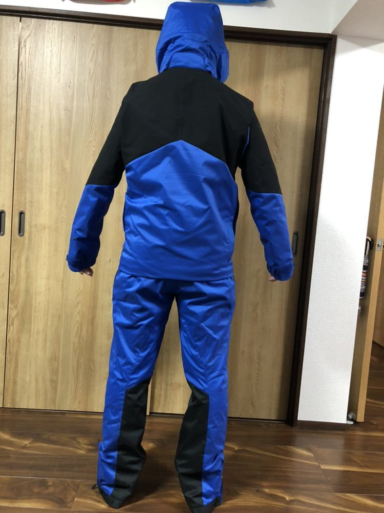 <2019> OGASAKA オガサカ DESCENTE デサント 上下 S/Mサイズ S.I.O JACKET /PANTS SIOジャケット パンツ スキーウェア 美良品_画像3