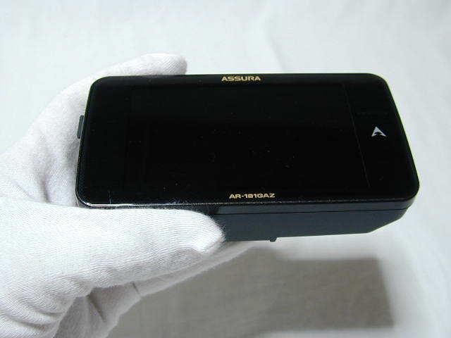 セルター ASSURA 無線LAN 3.7インチ液晶搭載 GPS一体型レーダー探知機 AR-181GAZ (中古品)_画像2