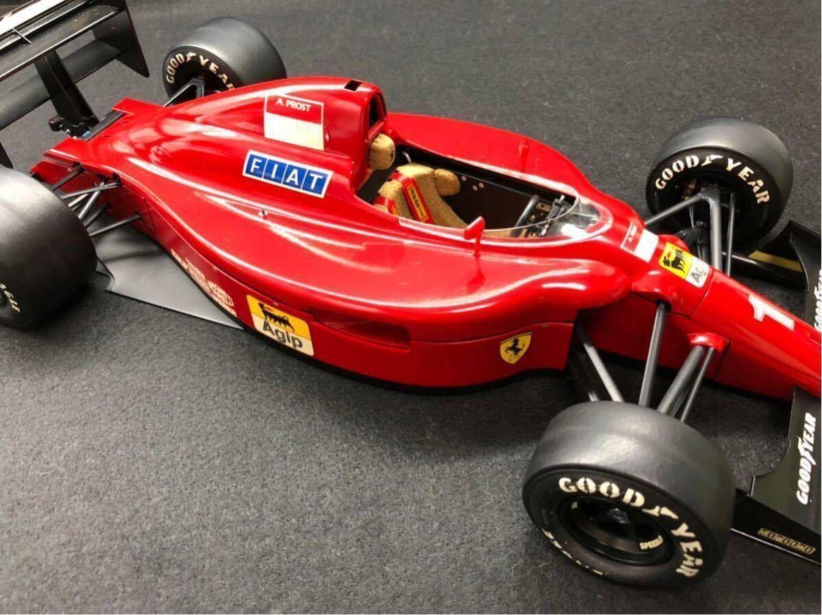 TAMIYA タミヤ1/12 FERRARI 641/2 フェラーリ641/2 F1 オリジナルカスタム 完成品 タイヤジャンク _画像9