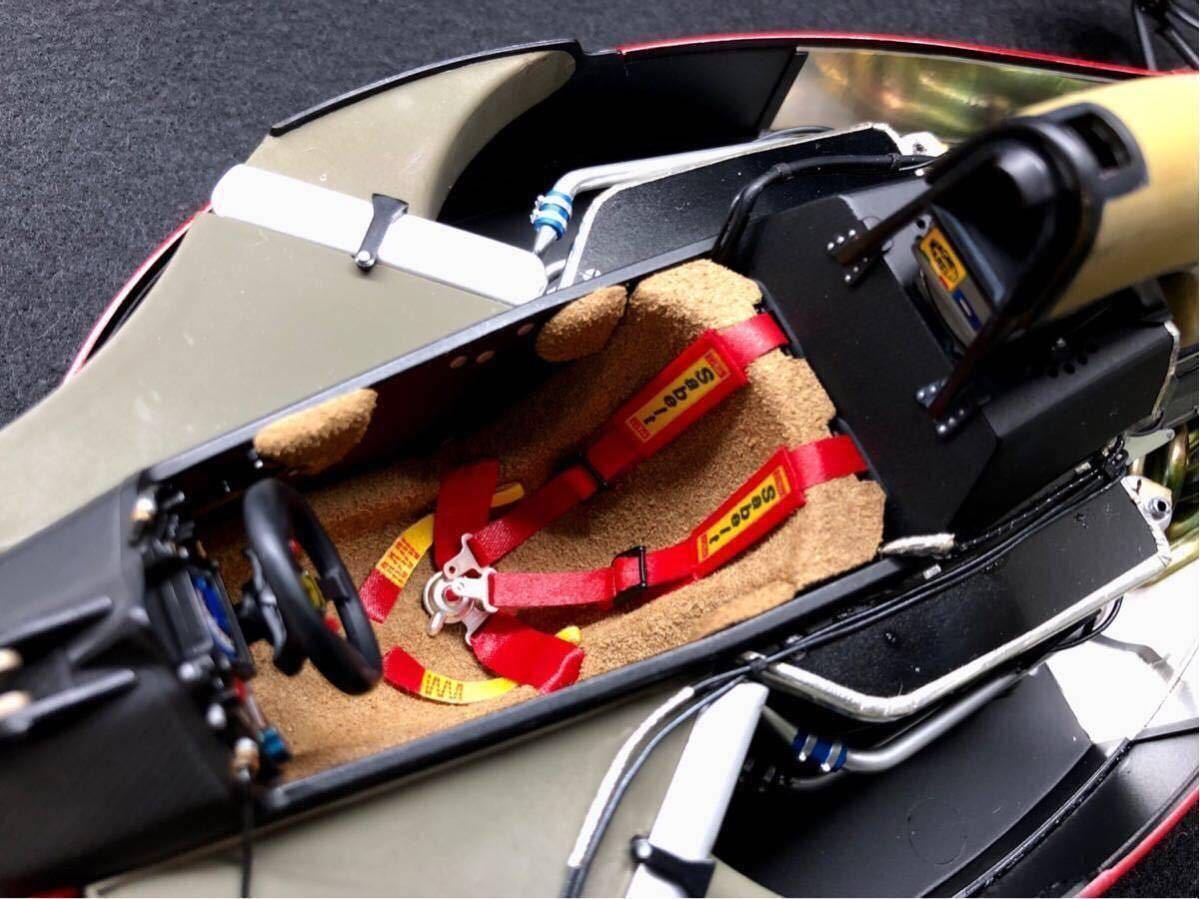 TAMIYA タミヤ1/12 FERRARI 641/2 フェラーリ641/2 F1 オリジナルカスタム 完成品 タイヤジャンク _画像6