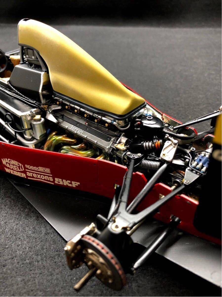 TAMIYA タミヤ1/12 FERRARI 641/2 フェラーリ641/2 F1 オリジナルカスタム 完成品 タイヤジャンク _画像4