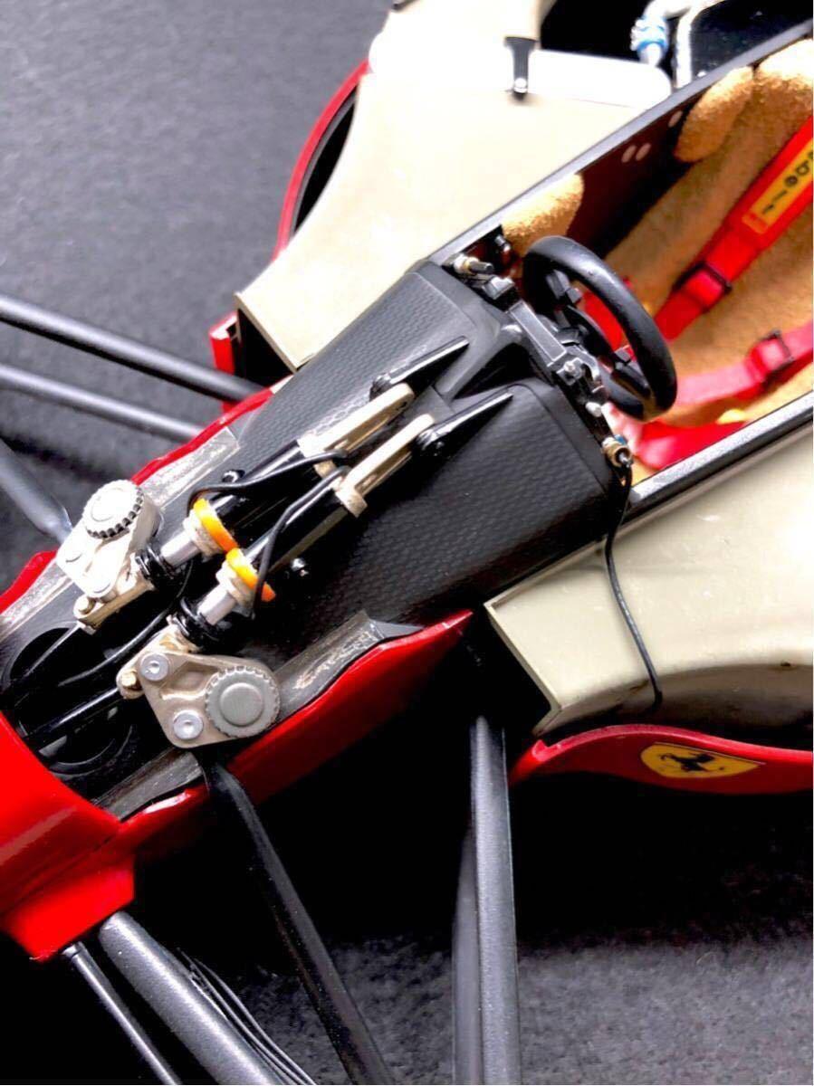 TAMIYA タミヤ1/12 FERRARI 641/2 フェラーリ641/2 F1 オリジナルカスタム 完成品 タイヤジャンク _画像7